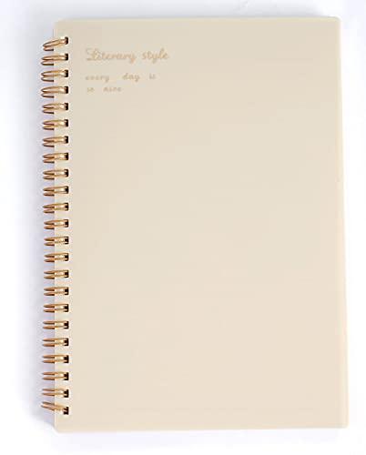 GJST Libretas Espiral, Espiral Premium, Cuadricula, Cuaderno A5 21 x 14 cm, 160 páginasWhite