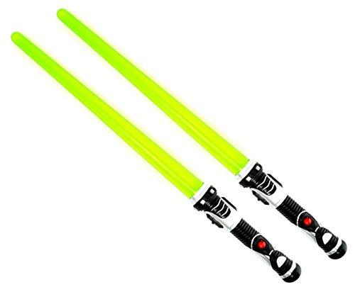 ARUNDEL SERVICES EU 2 Paquetes de sables de luz Sable de luz Espada Ligera 2 Verdes Juego Espacial Espada Espada de Juguete