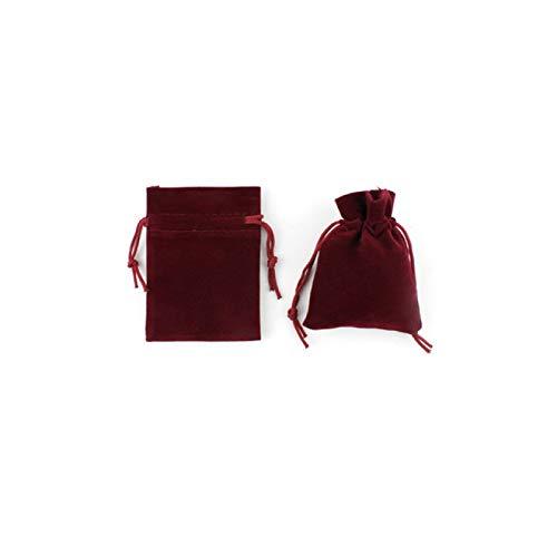 FSSQYLLX Bolsa con cordón Bolsa de Terciopelo con cordón Rojo Vino de Varios tamaños Bolsa de Regalo de Boda de Navidad de Organza Embalaje de joyería
