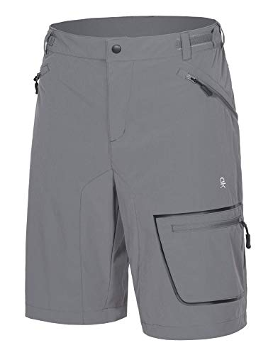 Mens Outdoor Hiking Shorts Quick Dry Stretchy 3//4 Capri Pants Cargo Shorts Male