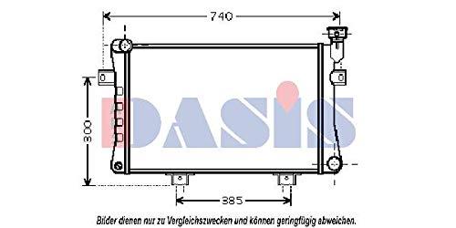 AKS Dasis 492003N Radiador, refrigeración del motor
