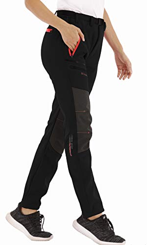 CARETOO - Pantalones de senderismo para mujer, resistentes al agua, cortavientos, cálidos,...