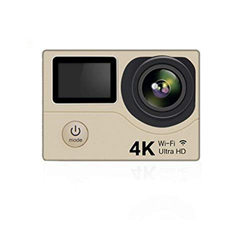 RJJG Acción de la cámara H3 Ultra HD 4K / 30fps 20MP WiFi 2.0' 170D Doble Pantalla a Prueba de Agua Casco de grabación de vídeo cámara del Deporte CAM l11.10A (Bundle : Option 3, Color : Gold)