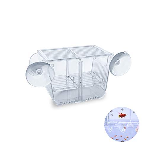 boxtech Breeding Box, Transparent Zucht Tanks, Brutkasten Zuchttanks für Aquarien Kleine Babyfische Garnelen (S: 132 x 68 x 73 mm)