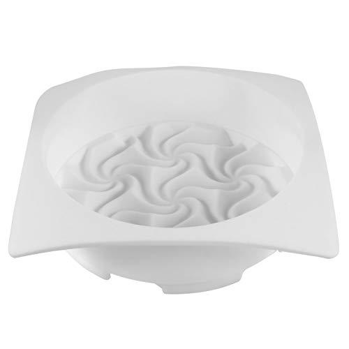 HEMOTON Silicone Cake Moulds Baking Bakeware Pan Baking Mold Spiral Flower Shape Bread Pie Flan Tart Molds for Layer Cake Cheese Cake