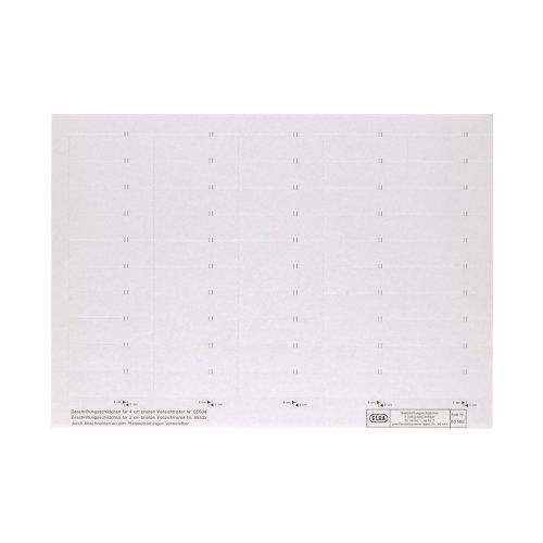 ELBA 100555644 Beschriftungsschild für Komfort-Sichtreiter vertic 50 Stück 4-zeilig weiß