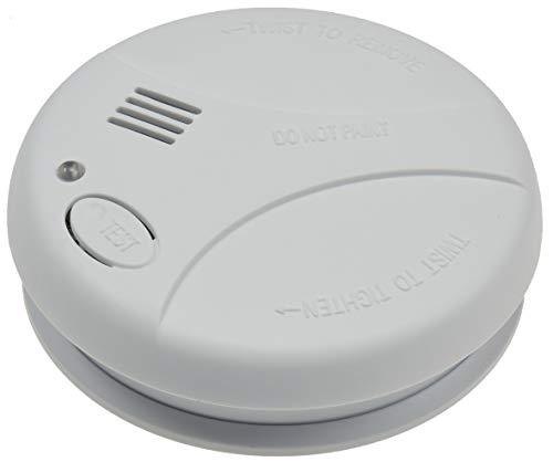 Rookmelder, brandbeveiliging, veiligheidsmelder, werkt op batterijen, testknop conform EN14604