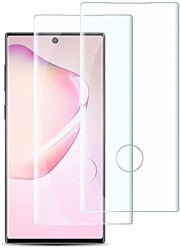 【2枚】Galaxy Note10 Plus/Note10+ フィルム【3D曲面ラウンドエッジ加工】Galaxy Note10 Plus/Note10+ SC-01M SCV45ガラスフィルム【日本製素材旭硝子製】業界最高硬度9H/99%高透過率/3D T
