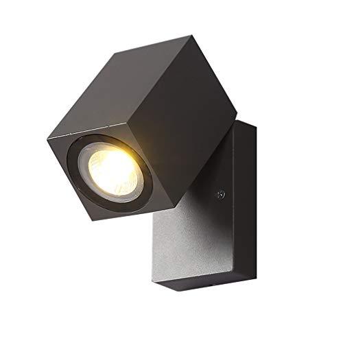 Moderne LED wandlamp wandlamp wandlamp donkergrijs creatief woonkamer eetkamer slaapkamer hoofdeinde gang wandlamp decoratief van aluminium voor buitenverlichting W6,3 cm x H 10 cm 10 W warmwit licht 3000 K