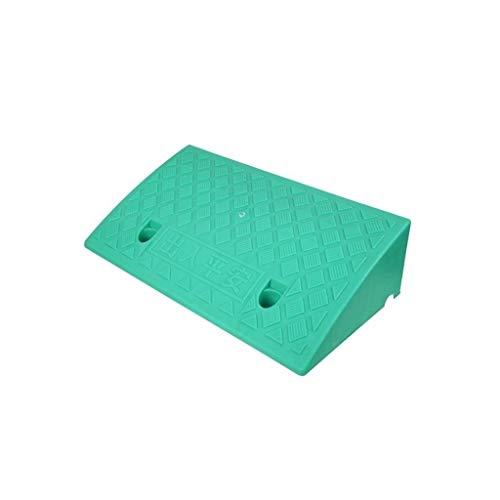 Xzg1-Rampe XUZgag Treppen Schritt Mat, Startseite wasserdichte rutschfeste Schwellenrampen Die Ältere Behinderte Rollstuhlrampen Höhe: 7-13CM Sicher bergauf Pad (Color : Green, Size : 50 * 27 * 13CM)