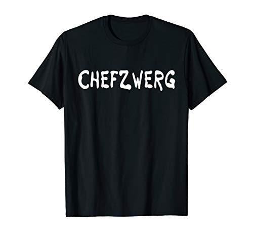 Chefzwerg - Karneval Gruppen Kostüm Halloween Chef Zwerg T-Shirt