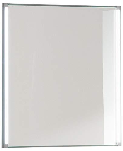 FACKELMANN Spiegel LED-LINE/Wandspiegelelement mit LED-Beleuchtung/Maße (B x H x T): ca. 61 x 67 x 4 cm/hochwertiger Badspiegel/moderner Badezimmerspiegel/Breite 60 cm