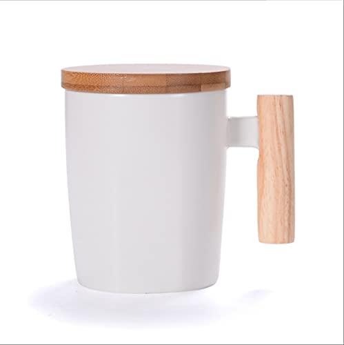 MOONLIGHT Taza De Cerámica con Mango De Madera Creativa Adecuada para Taza De Café Taza De Agua Taza De Leche Oficina En Casa como Decoración De Interiores