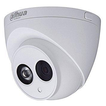 Dahua - Cámara Domo Profesional 4 Mpx IP POE, optica fija 2,8 mm, con iluminación infrarroja, y Microfono