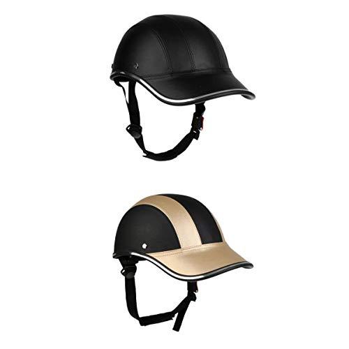 Perfeclan Fahrradhelm Schirm Baseball Cap Schutzhelm Tropenhelm Schirmmütze 2er Set Radfahren Helm Motorradhelm