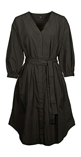 Closed Blusenkleid aus Popeline Shadow Green - S
