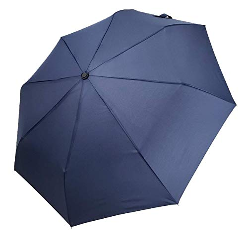 GJJSZ Paraguas Ocio Daily FashionTres Paraguas Plegable Versión Larga Paraguas Plegable 8K Paraguas Manual (Color:Azul)