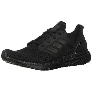 adidas Men's Ultraboost 20 Running Shoe, Black/Black/Solar Red, 9 M US