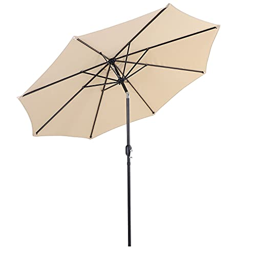 Patio Umbrella 10ft Outdoor Table Umbrella 8 Sturdy Ribs...