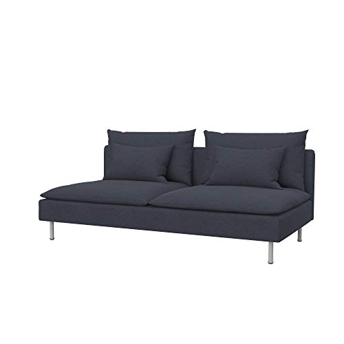 Soferia Funda de Repuesto para IKEA SÖDERHAMN sofá Cama, Tela Elegance Denim, Amarillo