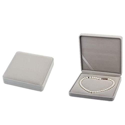 yunyu Brazalete Caja de Regalo Almacenamiento de Joyas Caja de joyería de Gran Capacidad Caja de Collar Soporte de Pendiente de botón Bandeja de joyería Caja de presentación Caja de Collar de Perlas