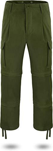normani Outdoor Sports 3-in-1 Zip-Off Outdoor Hose/Short Moleskinhose nach TL mit Reißverschluss abtrennbare Hosenbeine - Shorts oder 3/4 Farbe Oliv Größe XL