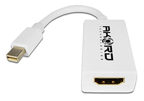 AKORD AP-17 Thunderbolt/Mini DisplayPort-naar-HDMI-adapterkabel - Wit