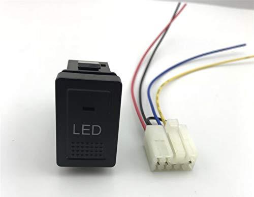 LHaoFY Accesorios de interruptores automáticos LED FOG LIGHT RADAR SENSOR SENSOR DE LA CÁMARA RECORDADOR MONITOR MUSICULA DE CALEFACCIÓN DE CALEFACCIÓN PARA EL BOTÓN PARA EL MUJER VITARA SUZUKI SX4 SW