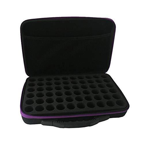 HEALLILY Boîte de rangement pour bouteille d'huile essentielle Portable 60 grilles support pour sac de transport d'huile essentielle pour organisateur de voyage (couleur aléatoire)