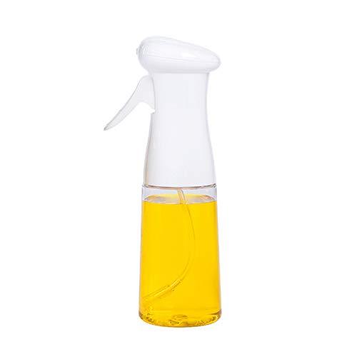 MingBin Olio Spruzzatore,210ML Spruzzatore per Olio D'oliva Dispenser,Spruzzo Oil Bottle Sprayer Portable per Cucinare, Barbecue, Cottura al Forno, Grigliare (Bianca)