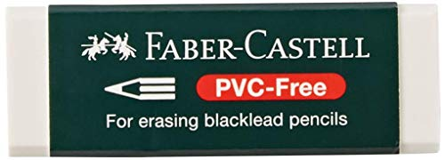Faber-Castell 188121 - Radierer 7081 N PVC-Free, Kunststoff, weiß