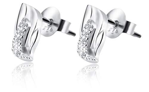 Giulia Luna Damen –Ohrstecker 925er Silber rhodiniert Ohrringe Strass GL5200016