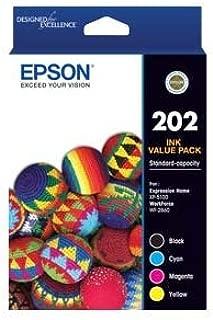 EPSON C13T02N692 (202) C/M/Y/K 4-Colour Ink Cartridge Value Pack