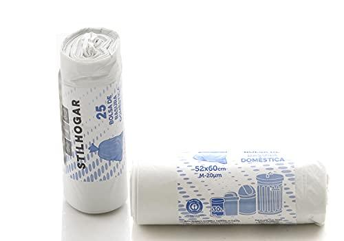 Bolsas de basura 30 L. 100% Recicladas, ecológicas y resistentes. 25 bolsas
