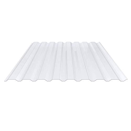 Lichtplatte | Spundwandplatte | Profil 20/1100 | Material PVC | Breite 1144 mm | Stärke 1,4 mm | Farbe Klarbläulich | Wand