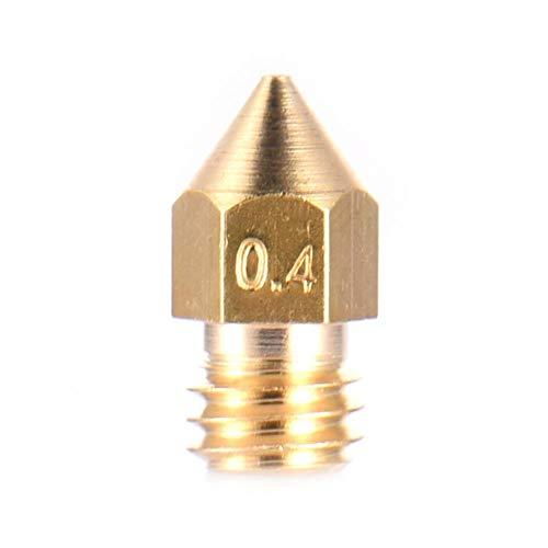 Blue-Yan 3D Printer Extruder Nozzle Set 0.2/0.3/0.4/0.5mm M6 Thread Brass Nozzle typical