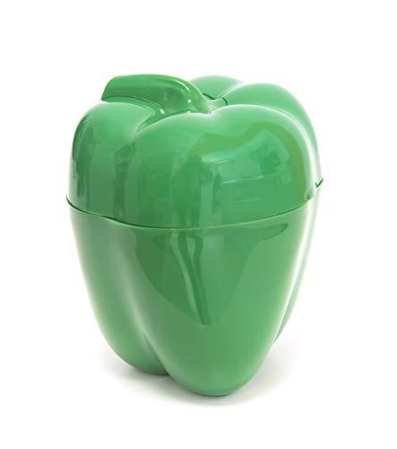 Fackelmann Conservador de Pimiento, Polipropileno, Verde, 11 cm