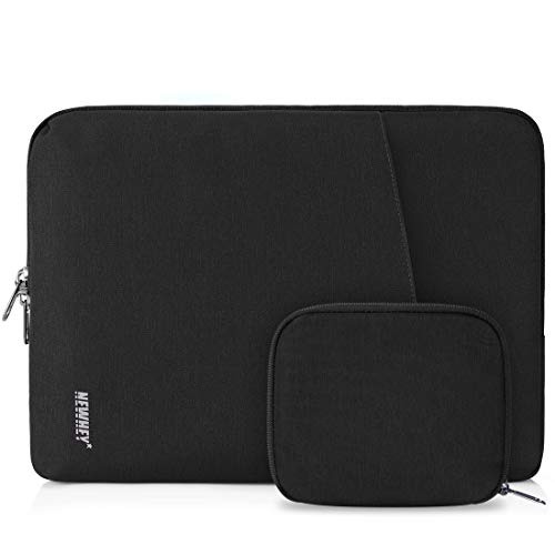 NEWHEY Custodia per Macbook Air 13 Pollici Impermeabile Custodia PC 13-14 Pollici Antiurto Porta Computer Custodia Borsa con Piccolo Caso Nero