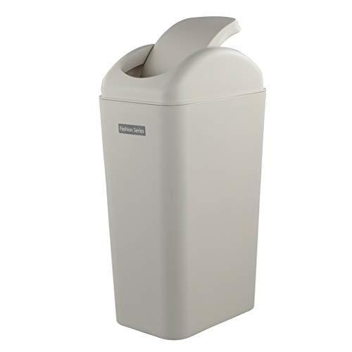 Ramddy Slim Trash Can Apricot, 14 Liter Modern Swing Garbage Bin