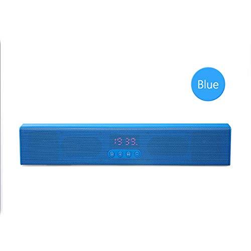 Bluetooth luidspreker, Mini Sound Blaster, digitale klok, multifunctioneel, smart draadloos, geschikt voor alle soorten Bluetooth-apparaten, ingebouwd, 1200 mAh, accu, 10 meter, zwart, blauw, rood, rood