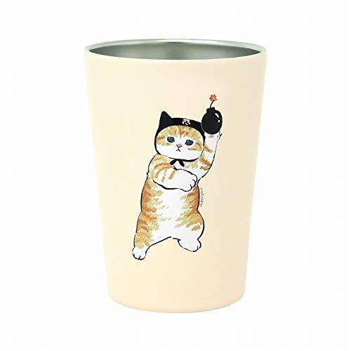 東亜金属 mofusand 2WAY 真空 二重 コンビニ タンブラー Mサイズ 【 猫忍者 】 53-2023 ホワイト