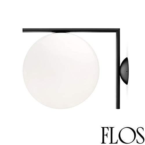 Flos IC C/W 2 wand- of plafondlamp, zwart F3179030