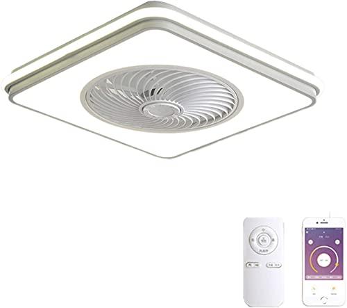 WEM Novedad Candelabro decorativo, lámpara de techo Vomi Ventilador de techo con iluminación LED y ventiladores de control remoto Iluminación de techo Ventilador silencioso Ventiladores de techo invi