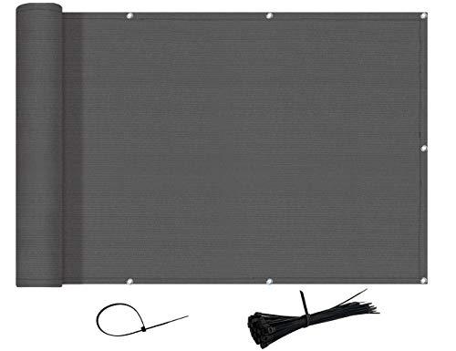 AXT SHADE Brise-Vue et Pare-Soleil pour Balcon 90x500cm HDPE- Résistant aux UV,aux déchirures/Anthracite