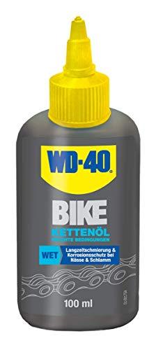 WD-40 Bike Kettenöl Feuchte Bedingungen 100 ml, transparent, 49687