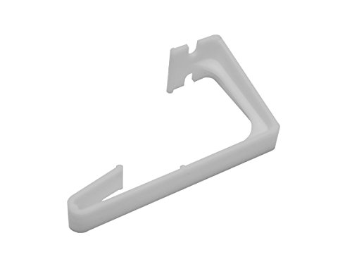 RV Designer A285, Side Curtain Hold Down, Plastic, 2 Per Pack, Window Covering Hardware,White