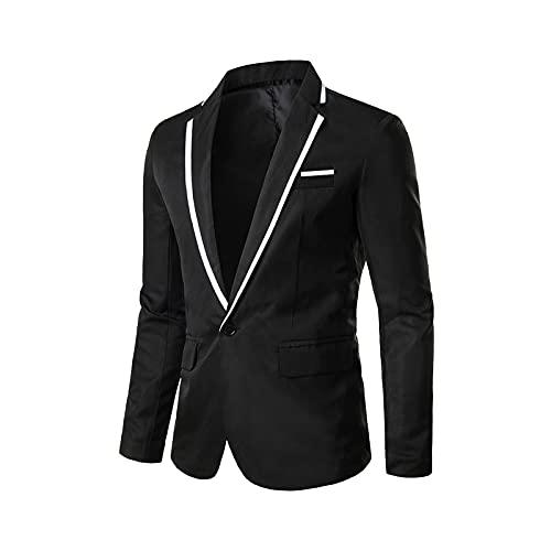 YingeFun Men's Suit Jacket Classic Separate Coat Business Evening Dress Suit for Men Formal Wedding Party Banquet Prom Black