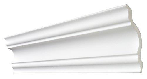 DECOSA Zierprofil A110 SELINA, weiß, 10 Leisten à 2 m Länge, 110 x 110 mm