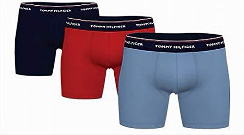 Tommy Hilfiger Herren 3P Boxer Brief Slip, Rot/Blau, L