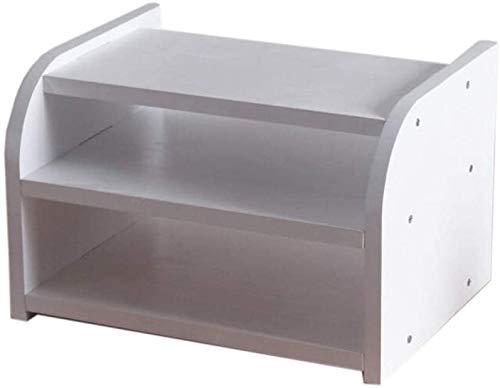Cajas de almacenamiento enrutador WIFI, estante flotante de montaje en pared, caja de tv de televisor, estante de caja de madera, estante de almacenamiento de madera, capa única / doble capa (color: d